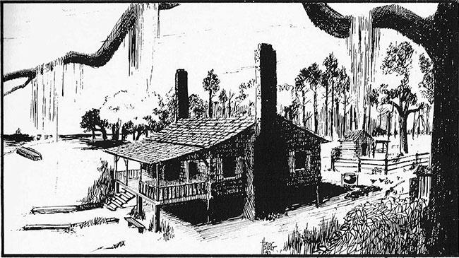 HE CHIMNEYS, home of Mr. & Mrs. Nicholas Ladner